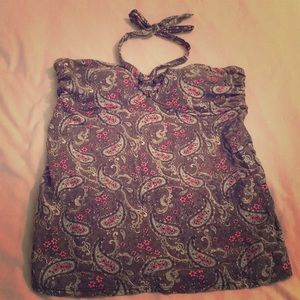 Tankini top with matching bottoms.
